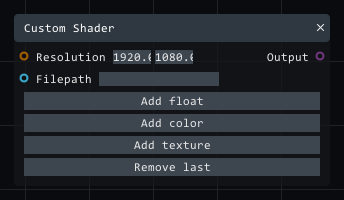 Custom Shader in Lightact's Layer Layouts visual scripting system.