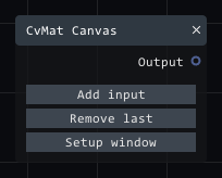 CvMat Canvas in Lightact's Layer Layouts visual scripting system.