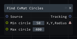 Find CvMat Circles in Lightact's Layer Layouts visual scripting system.