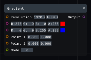 Gradient in Lightact's Layer Layouts visual scripting system.