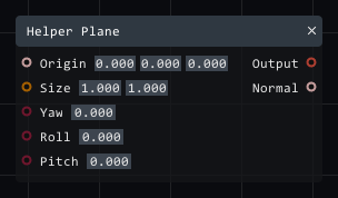 Helper plane in Lightact's Layer Layouts visual scripting system.