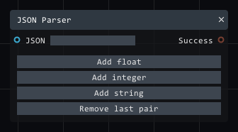 JSON Parser in Lightact's Layer Layouts visual scripting system.