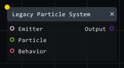 Legacy particle system in Lightact's Layer Layouts visual scripting system.