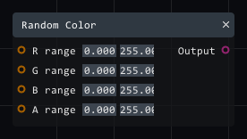 Random color in Lightact's Layer Layouts visual scripting system.