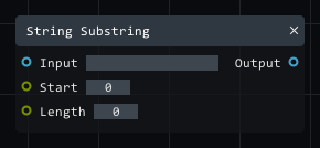 String Substring in Lightact's Layer Layouts visual scripting system.