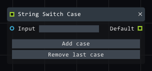 String switch case in Lightact's Layer Layouts visual scripting system.