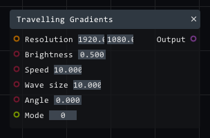 Travelling gradients in Lightact's Layer Layouts visual scripting system.