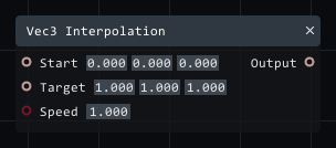 Vec3 interpolation in Lightact's Layer Layouts visual scripting system.
