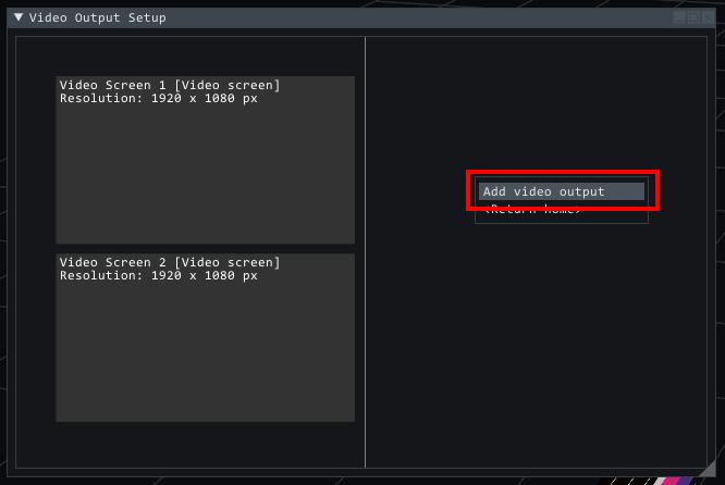Adding a virtual video output