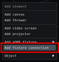 add fixture connection