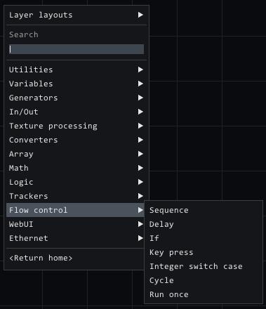 flow control nodes