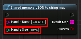 Shared memory JSON to string map