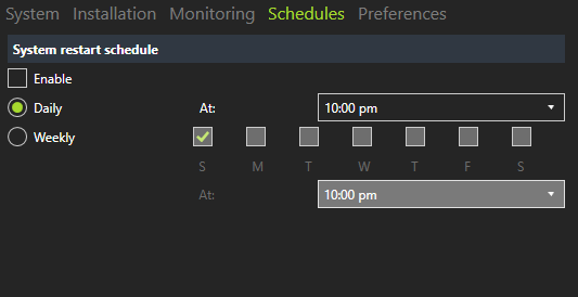 automatic system restarts