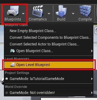 open level blueprint