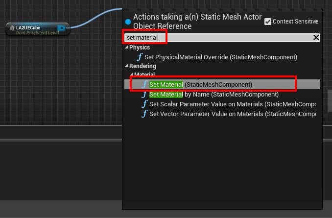 set material node create