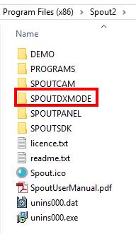 spoutdxmode folder