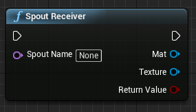 spout receiver node unreal engine