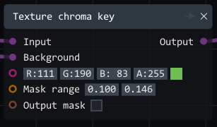 texture chroma key node