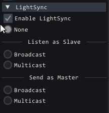 lightsync options