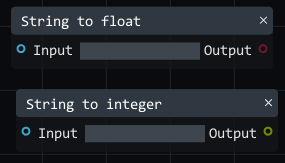 string to float to integer
