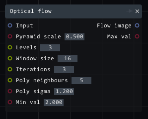 optical flow node