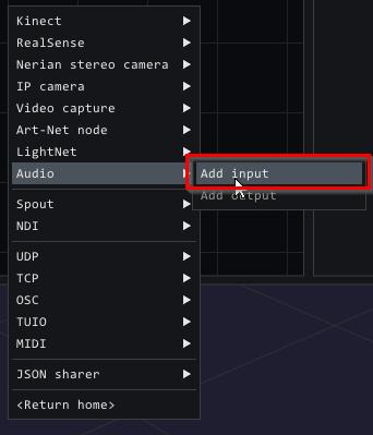 add audio input