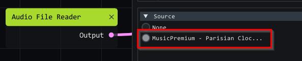 source audio file