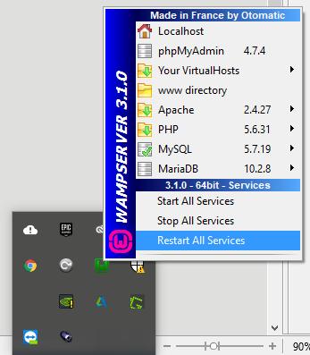restartingWamp