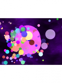 Colorful particles sample project